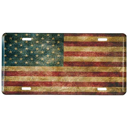 American Flag Metall vorne Nummernschild, Vintage USA Auto Tag für Auto, LKW, Wohnmobil, Trailer, 15,2x 30,5cm