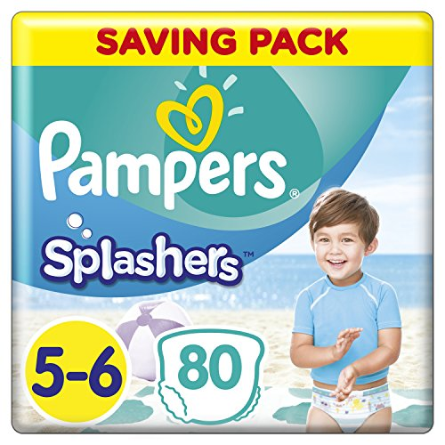 Pampers Splashers Einweg Swim Hose, Größe 5/6, 14kg plus, 8Stück