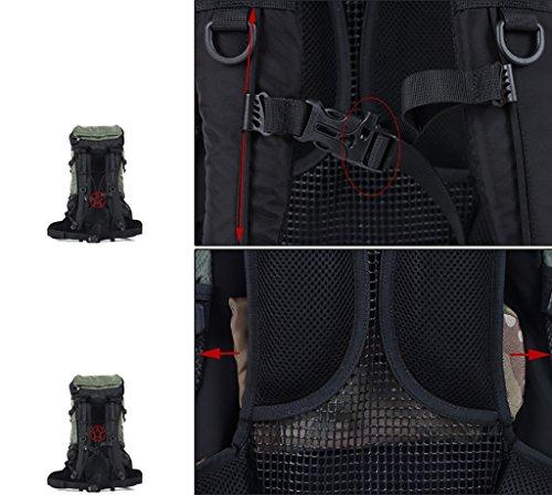 zaino trekking Maschio / Femmina 50L Outdoor Escursionismo Borsa / Multi-purpose di viaggio Borsa a tracolla impermeabile Zaini da escursionismo ( Colore : B , dimensioni : 50L-70*38*25cm ) C
