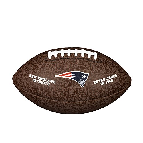 Wilson Unisex-Adult NFL LICENSED BALL NE American Football, BROWN, Uni