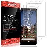 MASCHERI Schutzfolie für Google Pixel 3A XL Panzerglas,[3 Stück] Bildschirmschutzfolie Bildschirmschutz Glas Folie für Google Pixel 3A XL - klar