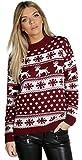 Verrückte Mädchen-Frauen-Weihnachtspuder-Ren-Schneeflocken strickte Weihnachten-lange...
