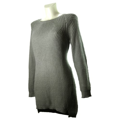 Vero Moda Strickkleid EWYKnit Dress grau Elephant Skin