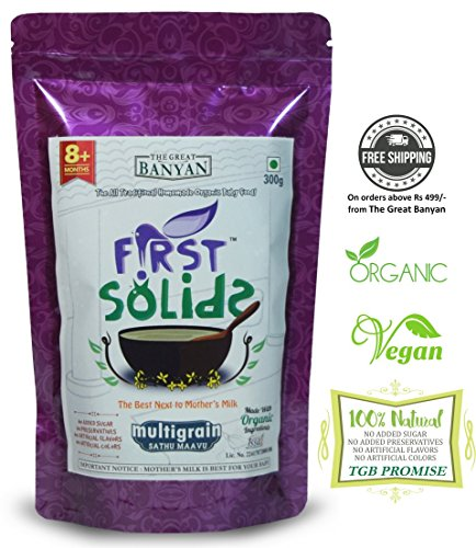 First Solids Multigrain Porridge Mix Natural Homemade and Organic Baby Food, 8-24 months