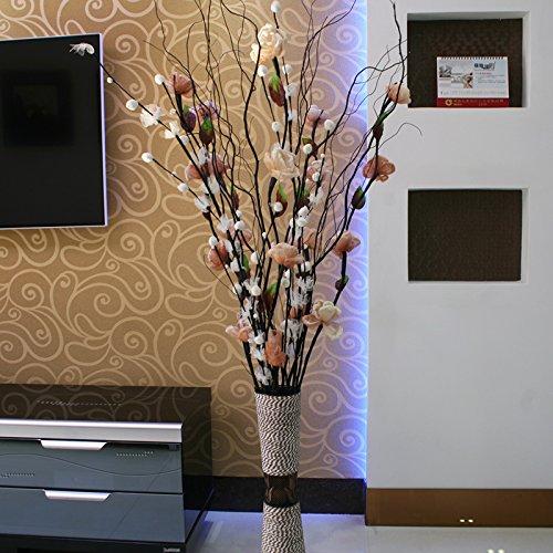 ShiQi Fiore artificiale marrone Soggiorno piano disposizione mista Vaso per la festa di nozze decorazione (Ortensia Albero)