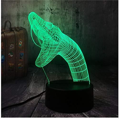 Tier Schlange Naja Viper Reptilia Biologische 3D Led Nachtlicht Tischlampe Wohnkultur Kind Junge Spielzeug Geburtstag Weihnachtsgeschenk Fernbedienung
