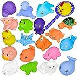 12PCS Juguete Baño Bebe, DouTree 2018 Juguetes Animados con Sonidos Toy Diverdidos Lindos para Agua Piscina Baño
