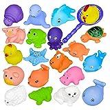 12PCS Juguete Baño Bebe, DouTree Juguetes Animados con Sonidos Toy Diverdidos Lindos para Agua Piscina Baño