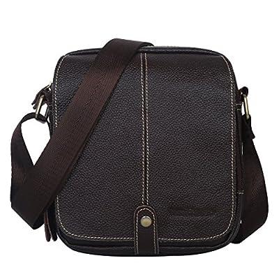 Leathario sacoche homme bandoulière sacoche porté épaule petit sac homme en cuir