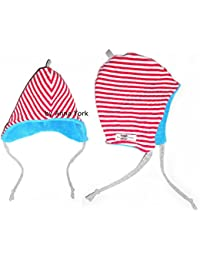 Anna York Design - Warme Baby Mütze Wendemütze Fleece / Bio-Öko-Baumwolle für Mädchen und Jungen, Hergestellt in Deutschland