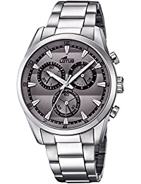 Lotus Reloj Cronógrafo para Hombre de Cuarzo con Correa en Acero Inoxidable  18365 3 b43dfea90173