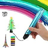 FJY Stylo 3D,Professionnel Pen Stylo d'impression avec Ecran LED Stylo DIY Dessin 3D Compatible avec 1.75mm PLA/ABS/PCL Filament pour Adultes Doodling Artiste DIY Dessin,Blue,Hightemperature