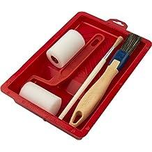 Decoración Aficionados–Set Color con pinceles rodillo de espuma 5cm Brochas y rodillo para pintura y barniz