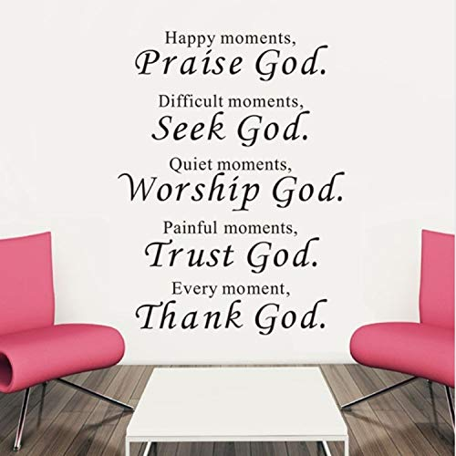 Asade Bible Wall Stickers Home Decor Praise Seek Worship Trust Thank God Quotes Christian Bless Proverbs Decals Living Room Mural