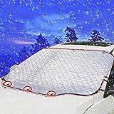 Blanketswarm Pare-Brise Snow Housse, Ultra épais Snow Frost Ice Coque Pare-Brise Pare-Soleil Protection dans Tous Les Temps pour Auto, P, 61''''''''×49, L=157X126CM