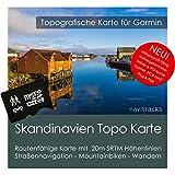 Scandinavia (Danimarca Norvegia Svezia Finlandia) Topo Garmin Slot–8GB microSD topogra pesci GPS tempo libero carta Bicicletta da trekking, escursioni trekking Geocaching Outdoor. dispositivi di navigazione, PC e Mac