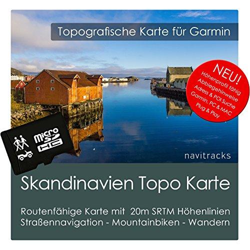 Skandinavien (Dänemark Norwegen Schweden Finnland) Topo Garmin Karte - 8GB microSD Topografische GPS Freizeitkarte Fahrrad Wandern Touren Trekking Geocaching Outdoor. Navigationsgeräte, PC & Mac Norwegen-pc
