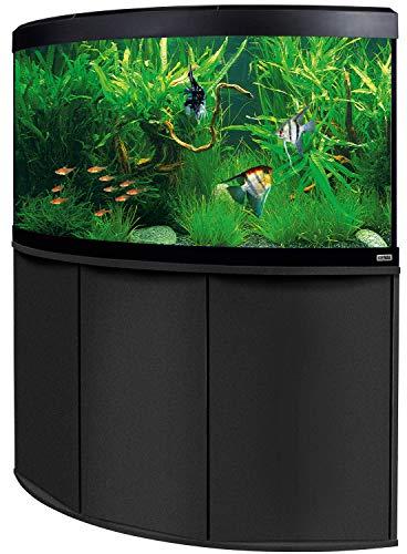 Aquariumkombination Fluval Venezia 350 mit LED Beleuchtung, Heizer, Filter und Unterschrank schwarz