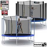 Kinetic Sports Gartentrampolin 183 cm bis 490 cm mit Randabdeckung und Sicherheitsnetz