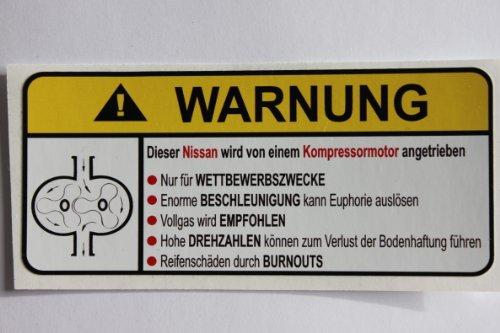 nissan-supercharger-type-ii-german-lustig-warnung-aufkleber-decal-sticker
