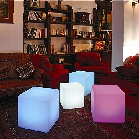 Led luminous bar luminous chairs plastic cubic furniture European colorful bar chairs 2POS