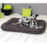 Hundekissen Murphy Premium - Bequeme Hundematratze - Abnehmbarer Bezug, weiche Plüsch-Liegefläche, ÖkoTex100 - Hundesofa für perfekten Liegekomfort, Farbe:Taupe, Größe:L (120 x 85 x 17cm)
