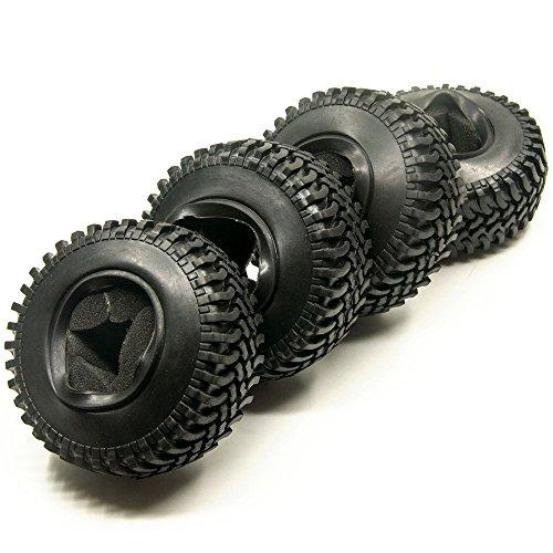 Preisvergleich Produktbild 4 Stück 1.9inch 100mm RC Reifen Gummi Pneu Tires Tyre für 1/10 Crawler RC4WD SCX10 CC01