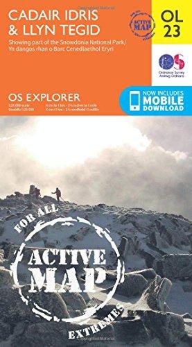 OS Explorer ACTIVE OL23 Cadair Idris & Bala Lake/Llyn Tegid (OS Explorer Map)