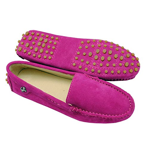 Minitoo da donna casual punta arrotondata Mocassini slipper Flats Purple