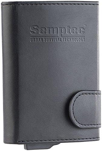 Semptec Urban Survival Technology EC Karten Etui: RFID-Kartenetui im Kunstleder-Geldbeutel, Schutz für EC-Karten u.v.m (Kreditkartenetui mit Geldfach) -