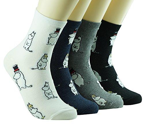 Moomin Tier Baumwolle Crew Socken