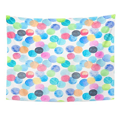AOCCK Wandteppiche Wall Hanging Abstract Beautiful Artistic Tender Wonderful Bright Blue Green Red...
