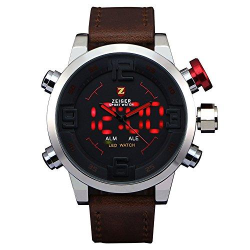 Nuovo Sport orologio allarme data doppia tempo