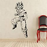 Dragon Ball Son Goku Wandtattoo Manga Anime Vinyl Aufkleber Wohnkultur Kunstwand Tür Aufkleber 43 x 100 cm