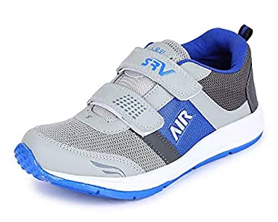 TRASE SRV Piper Grey/Royal Blue Sports Shoes for Boys-2C IND/UK