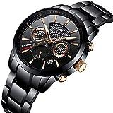 Herren Uhren Männer Militär Wasserdicht Luxus Sport Chronograph Schwarz Edelstahl Armbanduhr Mann Business Klassisch Leuchtende Datum Analog Quarzuhr