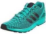adidas ZX Flux Techfit Men's Shoes Core Black/Shock Mint s79065 (9 D(M) US)
