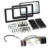 Alfa 159 mit OEM NAVI 05-11 2-DIN Autoradio Einbauset in original Plug&Play Qualität mit Antennenadapter Radioanschlusskabel Zubehör und Radioblende Einbaurahmen schwarz