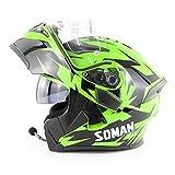 YMQC Motorcycle Helmet Casque Moto Modulable ABS Activités De Plein Air Respirantes,...