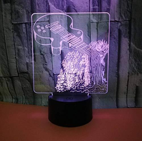 3D Led Nachtlicht Musikinstrumente 7 Farbwechsel Tischlampe Erstaunliche Visualisierung Optische 3D Lampe - Erstaunlich, Musikinstrumente