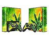 XBOX 360 E Skin Design Foils Aufkleber Schutzfolie Set - Cannabis Motiv