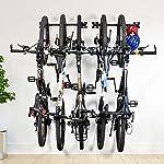 ikkle-Portabici-da-Bicicletta-Bicicletta-Pieghevole-Montata-a-Parete-Portabiti-da-Bici-Supporti-per-Rack-per-Biciclette-5-Sistemi-di-Deposito-per-Biciclette-Regolabili-per-Casa-e-Garage