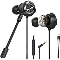 CLAW G13 Triple Driver Gaming Earphones with Adjustable Boom & in-line Mic, Volume Control, Mute Switch & 3D Stereo…