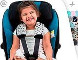 JANABEBE Gurtpolster Gurtpolster Set - universal für Babyschale, Buggy, Kinderwagen, Autositz (z.B. Maxi Cosi City SPS, Cabrio, Cybex Aton usw.)