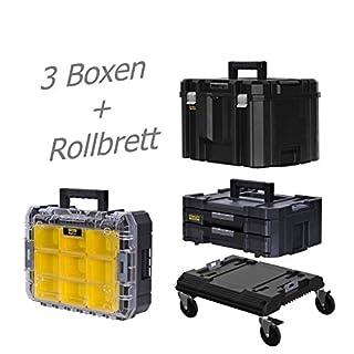 STANLEY FATMAX TSTAK Box IV + Box V + Box VI plus Rollbrett