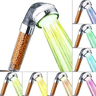 Duschkopf, AnGeer LED-Dusche mit Handgriff, 7 wechselndeFarben, mit Schalter, AG-2