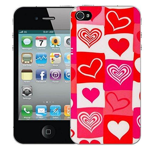 iphone 5 5s Dur Coque couverture Pare-chocs Case Cover - rouge amore conception par Mobile Case Mate Rouge
