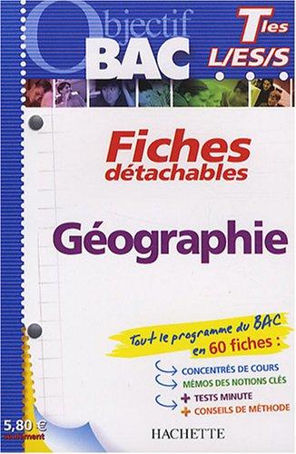 Géographie Tle L/ES/S