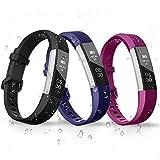 iCozzier Für Fitbit Alta HR Armband, 3 Farben, verstellbares Ersetzarmband von Mehreren Farben für Fitbit Charge 2 (Ohne Tracker)
