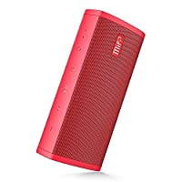 Portable Bluetooth Speaker, MIFA Wireless Speaker 10W, 16-Hour Playtime, IP45 Water-resistant, Superior Stereo Sound & More Bass with Micro SD Card Slot, 3.5 mm Aux-in and Mic for Calls, A10 Red